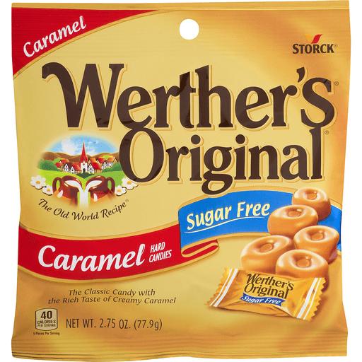 Werthers Hard Candies, Sugar Free, Caramel