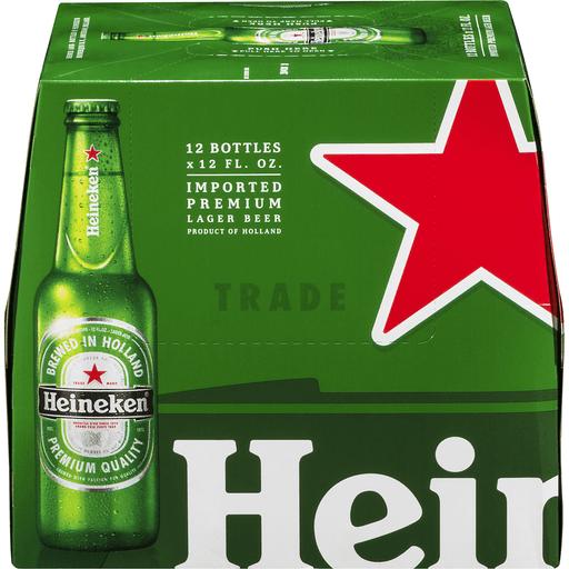 Heineken Beer, Lager, Original Recipe, 12 Pack