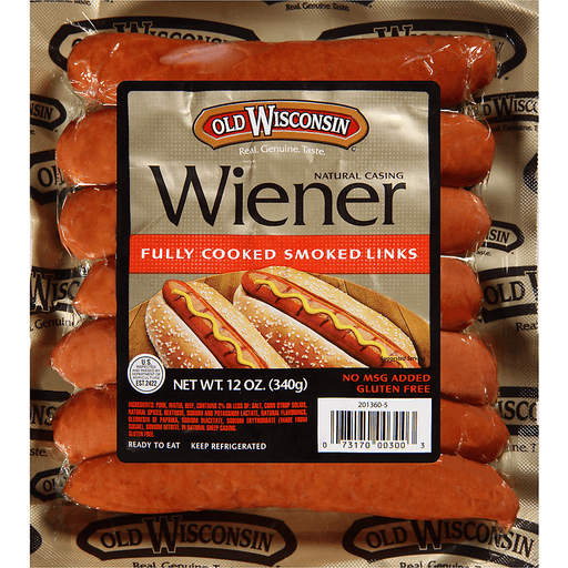 Old Wisconsin® Natural Casing Fully Cooked Smoked Wiener Links 12 oz. Pack