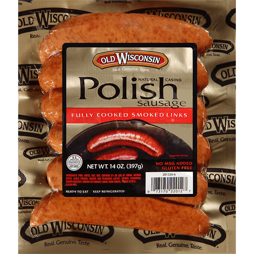 Old Wisconsin® Natural Casing Fully Cooked Smoked Polish Sausage Links 14 oz. Pack