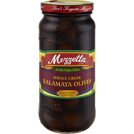 Mezzetta Olives, Kalamata, Whole Greek