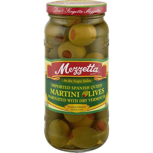 Mezzetta Olives, Martini, Imported Spanish Queen