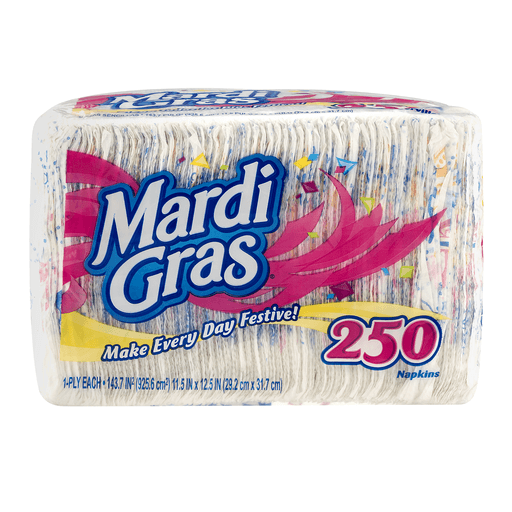 Mardi Gras Napkins, 1-Ply