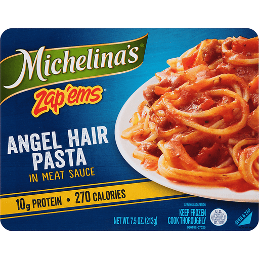 Michelina's® Zap'Ems® Angel Hair Pasta in Meat Sauce 7.5 oz. Tray
