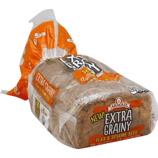 Arnold Whole Grains Bread, Extra Grainy, Flax & Sesame Seed