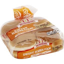 Brownberry Hamburger Buns Sweet Hawaiian Sliced Market Basket
