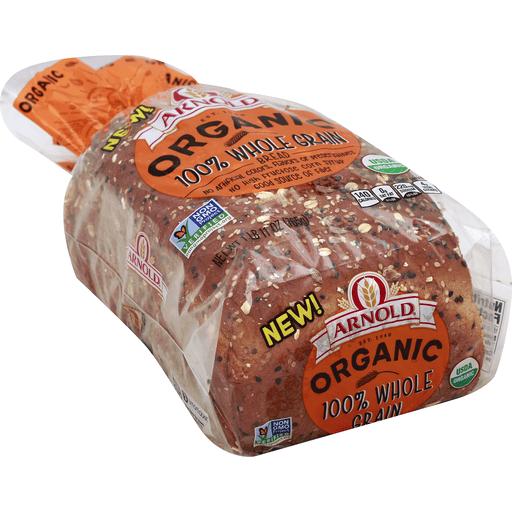 Arnold Bread, Organic, 100% Whole Grain