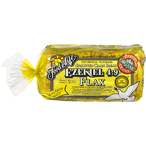 Food For Life Ezekiel 4:9 Sprouted Grain Bread Flax