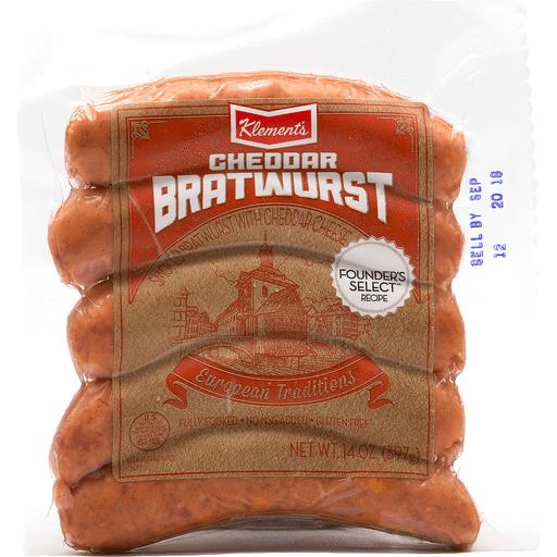 Klements Cheddar Bratwurst