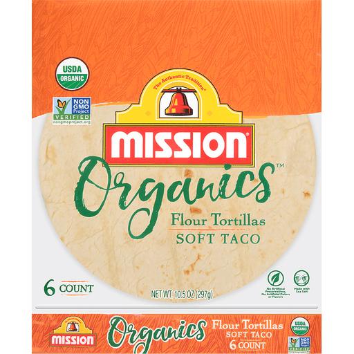 Mission Organics Tortillas, Flour, Soft Taco