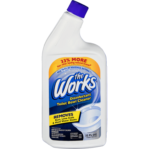 Works Toilet Bowl Cleaner, Disinfectant