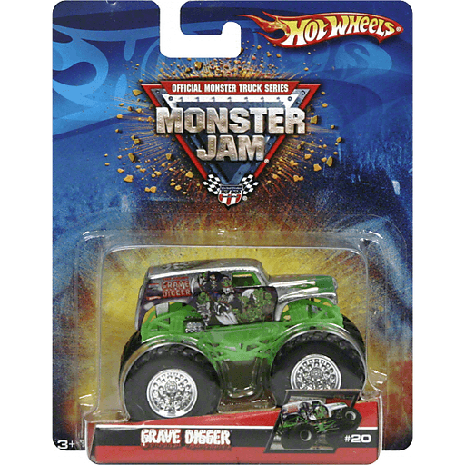 Hot Wheels Monster Jam Truck Grave Digger Toys Games Fishers Foods