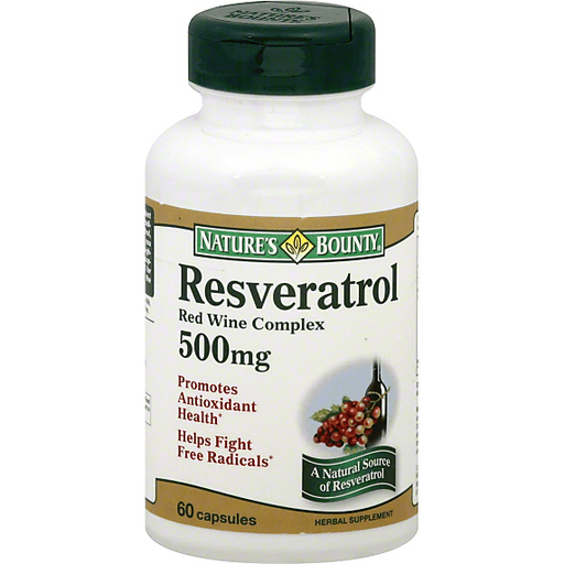 Natures Bounty Resveratrol Red Wine Complex 500 Mg Capsules