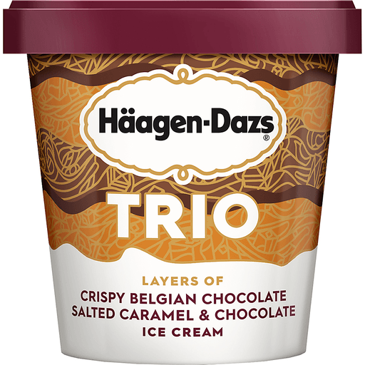 Haagen-Dazs Trio Ice Cream Salted Caramel Chocolate