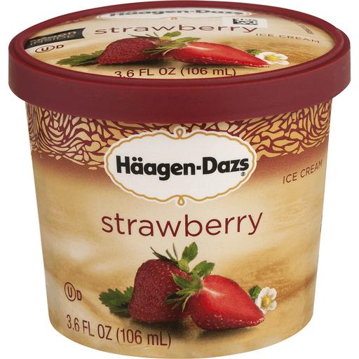 Haagen Dazs Ice Cream, Strawberry