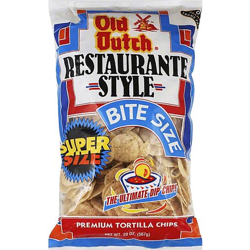 Old Dutch Tortilla Chips, Premium, Bite Size, Super Size