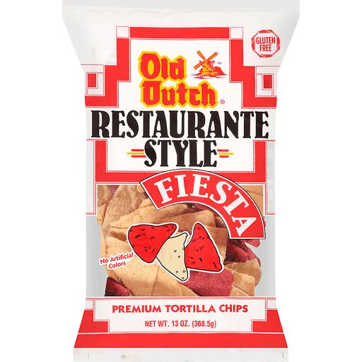 Old Dutch® Restaurante Style Red N' White Premium Tortilla Chips 13 oz. Bag