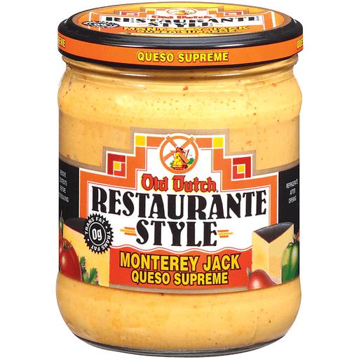 Old Dutch Restaurante Style Monterey Jack Restaurante Style Cheese Dip Jar