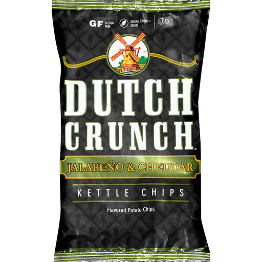 Dutch Crunch® Jalapeno & Cheddar Kettle Potato Chips 9 oz. Bag