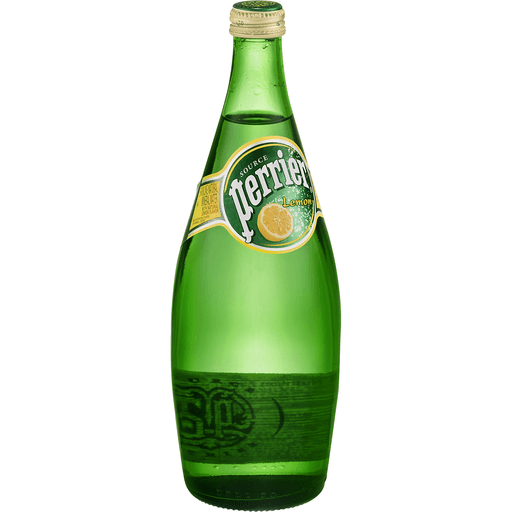 Perrier Water, Sparkling Natural Mineral, Lemon
