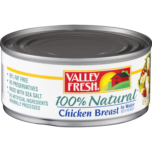 Valley Fresh Chicken Breast, in Broth with Rib Meat