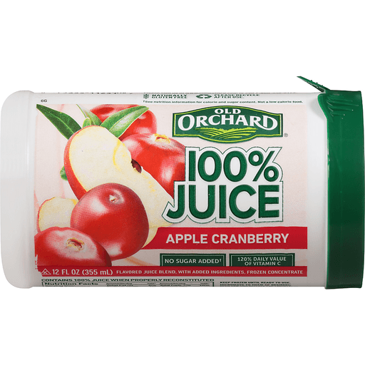 Old Orchard 100% Juice, Apple Cranberry