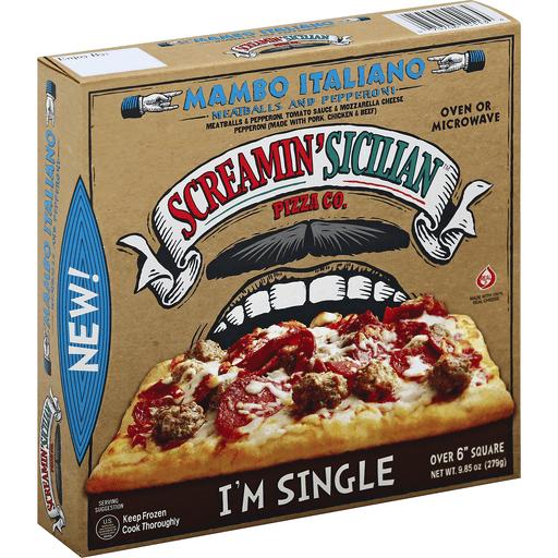 Screamin' Sicilian™ Pizza Co. Single Serve Mambo Italiano Meatballs and Pepperoni Pizza 9.85 oz. Box