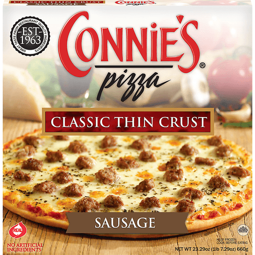 Connie's® Pizza Sausage Classic Thin Crust Pizza 23.29 oz. Box