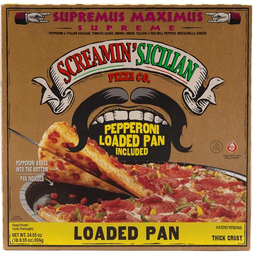 Screamin Loaded Pans Supreme Pizza
