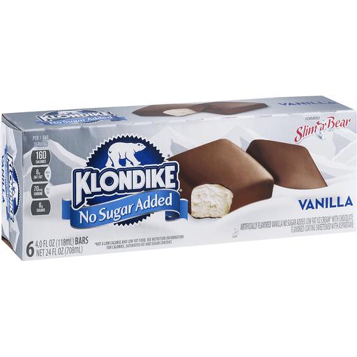 Klondike No Sugar Added Ice Cream Bars, Vanilla