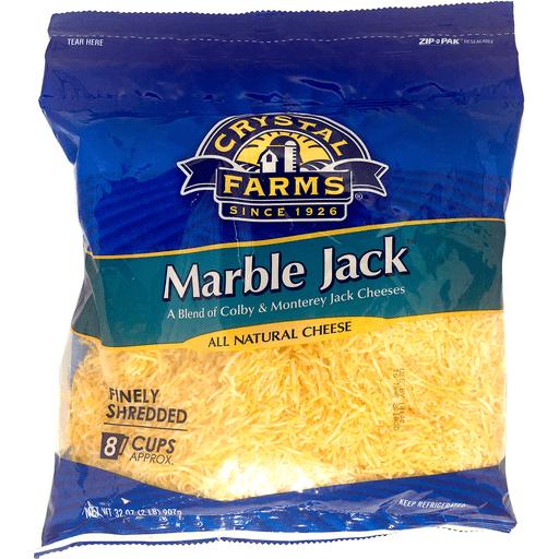 Crystal Farms Fine Shredded Marble Jack 2 Lb