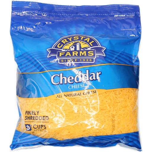 Crystal Farms Fine Shredded Cheddar 2 Lb