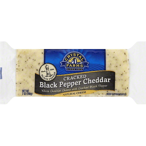 Crystal Farms Cheese, Cracked Black Pepper Cheddar
