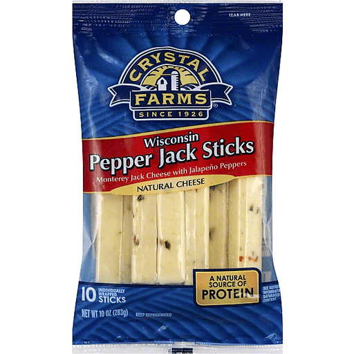 Crystal Farms Cheese Sticks, Wisconsin Pepper Jack