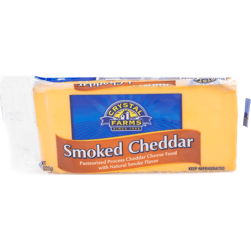 Crystal Farms Cheese Food, Pasteurized Process, Smoked Cheddar