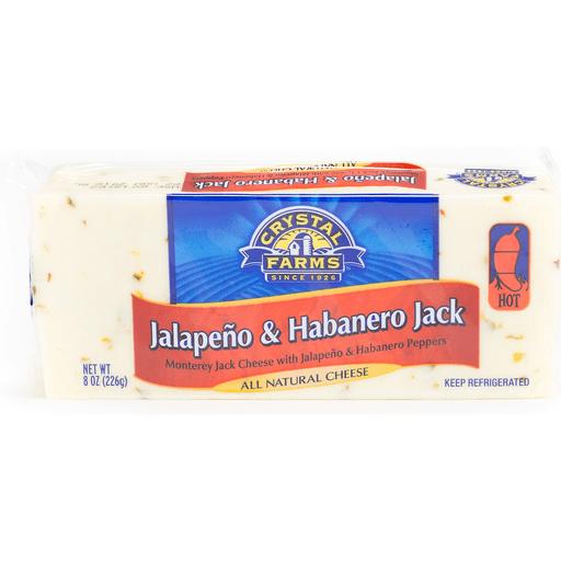 Crystal Farms Cheese, Jalapeno & Habanero Jack, Hot