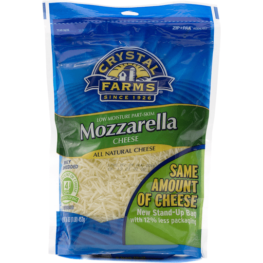 Crystal Farms Finely Shredded Mozzarella Cheese
