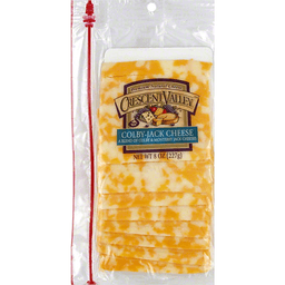 Crescent Valley Cheese Slices Colby-Jack   Teals - Cold Spring