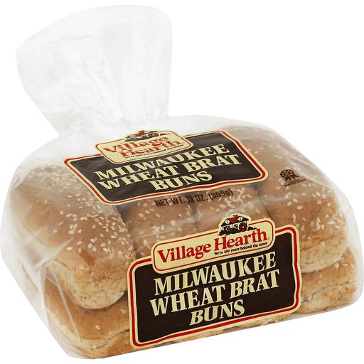 Village Hearth Buns, Brat, Milwaukee Wheat