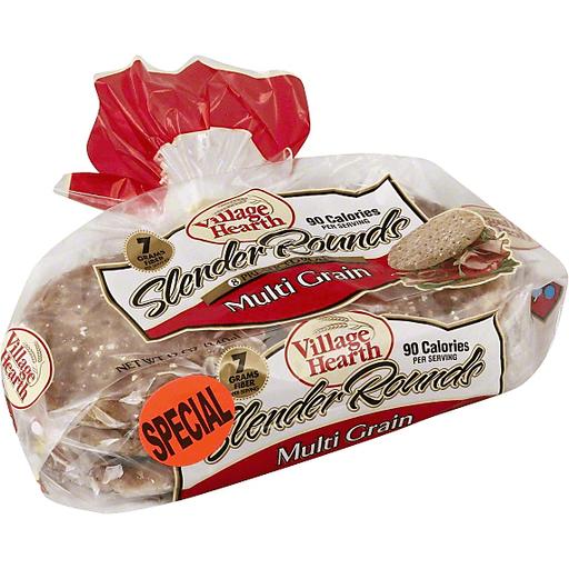 Village Hearth Slender Rounds Rolls, Multi Grain, Pre-Sliced