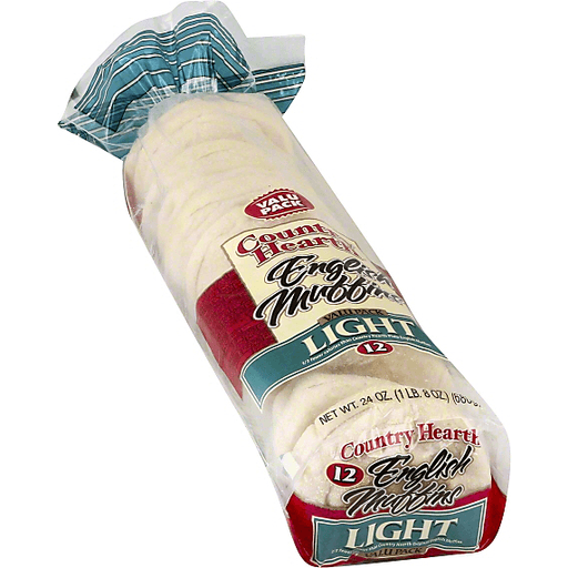 Country Hearth English Muffins, Light, Valu Pack