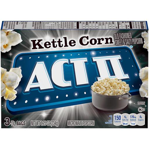 Act II Microwave Popcorn, Kettle Corn