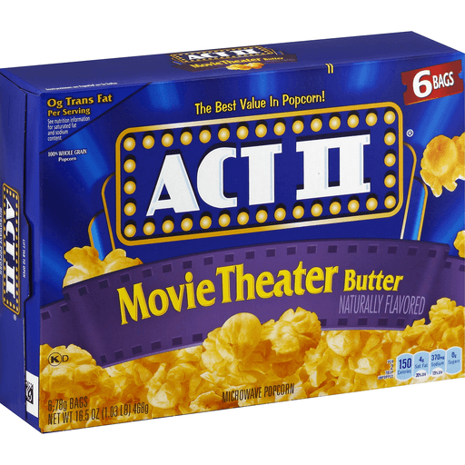 Act Ii Microwave Popcorn Movie Theater Butter Unpopped Martin S Super Markets