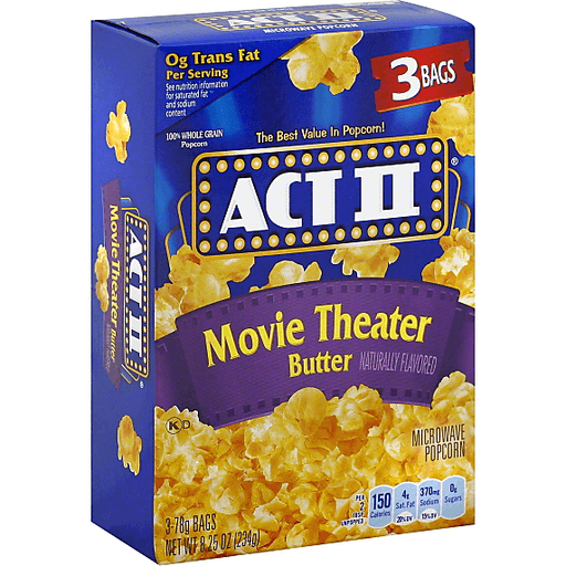 Act Ii Movie Theater Butter Microwave Popcorn Popcorn Foodtown