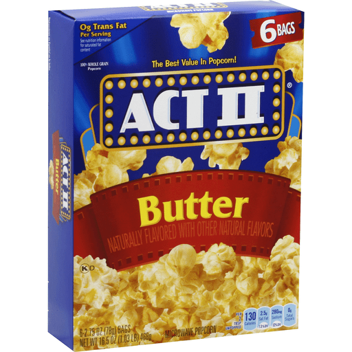 Act Ii Microwave Popcorn Butter Unpopped Northland Food