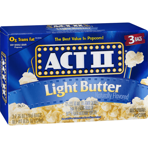 Act II Microwave Popcorn, Light Butter