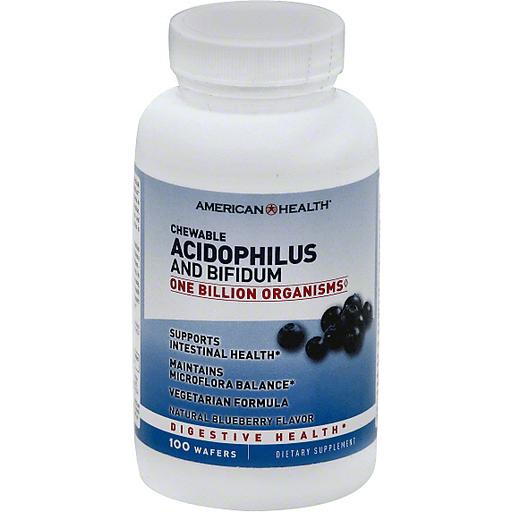 American Health Amhlth Acidoph Chew Blubry