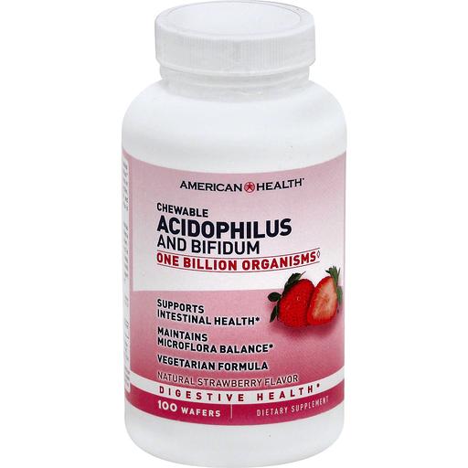 American Health Amhlth Acidoph Chew Strawbry