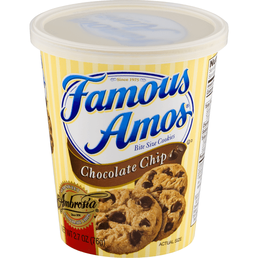 Famous Amos Cookies, Chocolate Chip, Bite Size