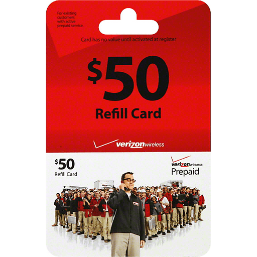 Verizon Wireless Prepaid Refill Card 50 Gift Cards My Country Mart Kc Ad Group